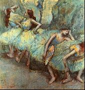 Edgar Degas Ballet Dancers in the Wings oil painting