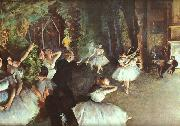 Edgar Degas Rehearsal on the Stage oil painting