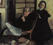 Edgar Degas Henri de Gas and his Niece Lucy oil painting
