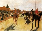 Edgar Degas Horses Before the Stands painting
