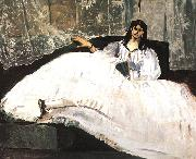 Edouard Manet Bauldaire's Mistress Reclining oil painting