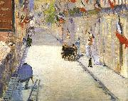 Edouard Manet Rue Mosnier with Flags oil painting artist