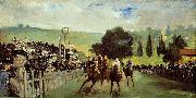 Edouard Manet Course De Chevaux A Longchamp oil painting artist