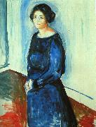 Edvard Munch Woman in Blue oil painting reproduction