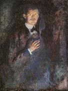 Edvard Munch Self Portrait with a Burning Cigarette oil painting reproduction
