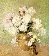 Emil Carlsen Peonies oil on canvas