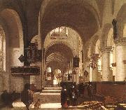 Emmanuel de Witte Interior of a Church oil painting reproduction