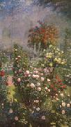 Ernest Quost Roses,Decorative Panel oil on canvas