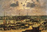 Eugene Buland The Port of Bordeaux oil painting reproduction
