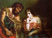 Eugene Delacroix Cleopatra and the Peasant oil painting reproduction