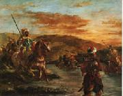 Eugene Delacroix Fording a Stream in Morocco oil painting reproduction