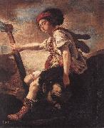FETI, Domenico David with the Head of Goliath dfg oil painting reproduction