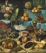 FLEGEL, Georg Still-life with Parrot fdg oil painting reproduction