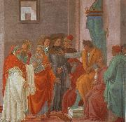Filippino Lippi Disputation with Simon Magus oil