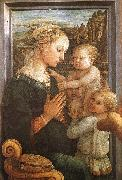 Fra Filippo Lippi Madonna and Child with Two Angels oil on canvas