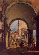 Francesco Guardi An Architectural Caprice oil