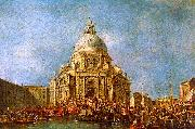 Francesco Guardi The Doge of Venice goes to the Salute on 21 November to Commemorate the end of the Plague of 1630 oil