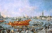 Francesco Guardi The Bucentaur Departs for the Lido on Ascension Day oil