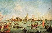 Francesco Guardi The Doge in the Bucentaur at San Nicolo di Lido on Ascension Day oil