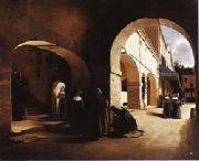 Francois Bonvin The Ave Maria;Interior of a Convent at Aramont,Verberie(Oise) china oil painting artist