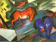 Franz Marc Red and Blue Horse oil painting reproduction