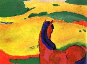 Franz Marc Horse in a Landscape painting