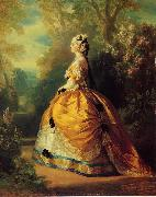 Franz Xaver Winterhalter The Empress Eugenie a la Marie-Antoinette oil painting