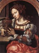 GOSSAERT, Jan (Mabuse) Lady Portrayed as Mary Magdalene sdf oil on canvas