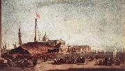GUARDI, Francesco The Piazzetta, Looking toward San Giorgio Maggiore dh oil painting