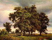 Georg-Heinrich Crola Oak Trees painting