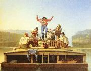 George Caleb Bingham The Jolly Flatboatmen oil on canvas