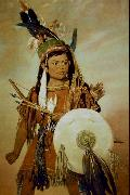 George Catlin Indian Boy oil on canvas