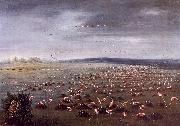 George Catlin Ambush for Flamingoes oil on canvas