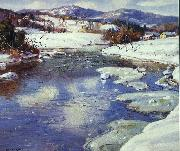 George Gardner Symons Valley Stream in Winter oil on canvas