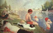 Georges Seurat Bathing at Asniers oil painting