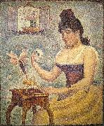 Georges Seurat Young Woman Powdering Herself oil painting