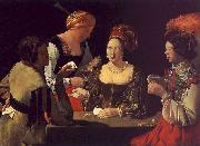 Georges de La Tour The Cheat with the Ace of Diamonds oil painting