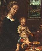 Gerard David The Madonna of the Milk Soup oil painting reproduction