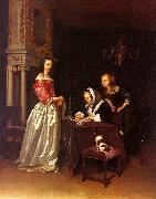 Gerard Ter Borch Curiosity oil painting reproduction