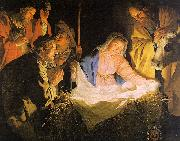Gerrit van Honthorst Adoration of the Shepherds oil on canvas