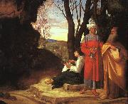 Giorgione The Three Philosophers dh oil painting