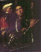 Giorgione Portrait of Warrior with his Equerry sg oil painting