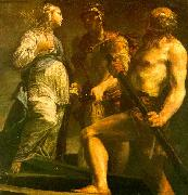 Giuseppe Maria Crespi Aeneas with the Sybil Charon oil on canvas