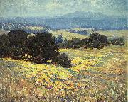Granville Redmond California Oaks and Poppies oil