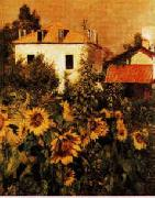 Gustave Caillebotte Sunflowers, Garden at Petit Gennevilliers oil on canvas