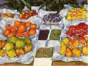 Gustave Caillebotte Fruit Displayed on a Stand oil on canvas