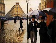 Gustave Caillebotte Paris Street, Rainy Weather oil on canvas