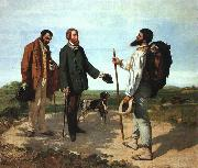 Gustave Courbet Bonjour Monsieur Courbet oil on canvas