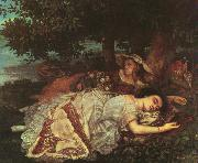 Gustave Courbet The Young Ladies of the Banks of the Seine oil on canvas