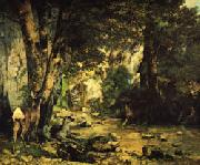 Gustave Courbet The Shaded Stream oil on canvas